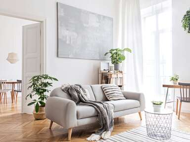 Cozy neutral living room