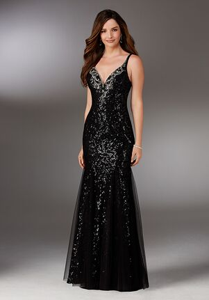 MGNY 71527 Black Mother Of The Bride Dress