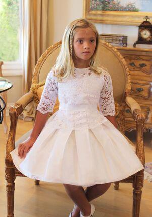 Isabel Garretón Fable Black Flower Girl Dress