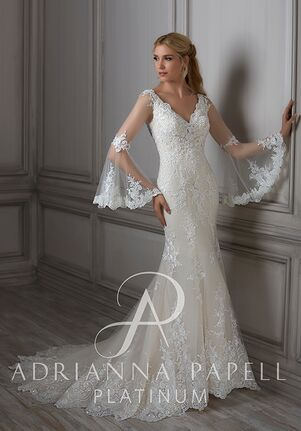 Adrianna Papell Platinum Flora Mermaid Wedding Dress