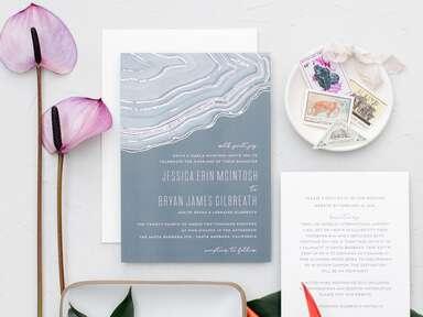 Modern agate wedding invitation