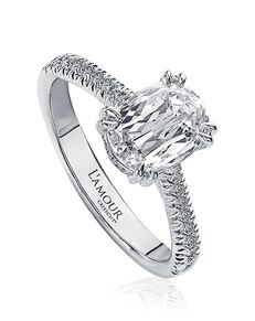 Christopher Designs Classic Oval Cut Engagement Ring