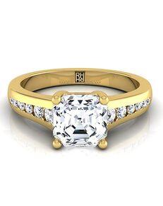 RockHer Vintage Asscher Cut Engagement Ring