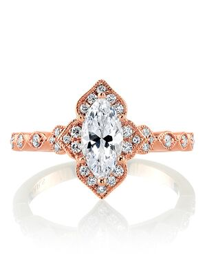 MARS Fine Jewelry Unique Marquise Cut Engagement Ring