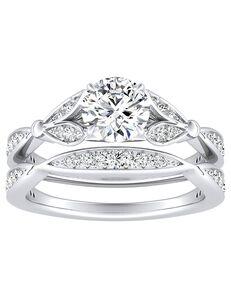 DiamondWish.com Elegant Princess, Asscher, Cushion, Pear, Round Cut Engagement Ring