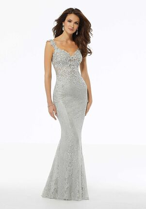 MGNY 72111 Blue Mother Of The Bride Dress