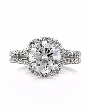 Mark Broumand Elegant Round Cut Engagement Ring