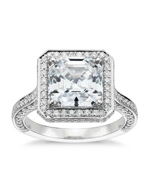 Blue Nile Studio Asscher Cut Engagement Ring