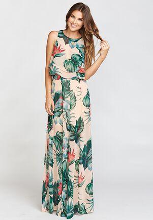 Show Me Your Mumu King Crop Top - Kauai Kisses Halter Bridesmaid Dress