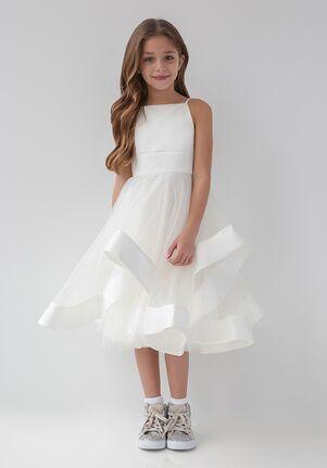 La Petite by Hayley Paige 5923-Ella Ivory Flower Girl Dress