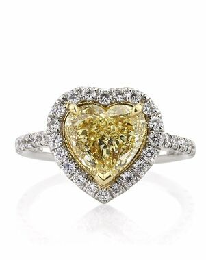 Mark Broumand Unique Heart Cut Engagement Ring