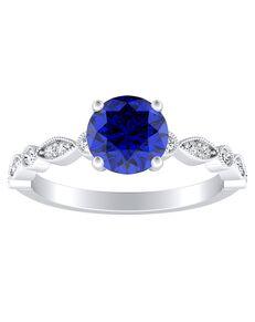 DiamondWish.com Vintage Round Cut Engagement Ring