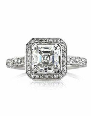 Mark Broumand Vintage Asscher Cut Engagement Ring