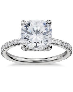Blue Nile Studio Cushion Cut Engagement Ring