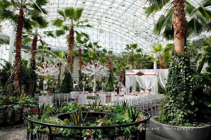 Navy pier garden wedding