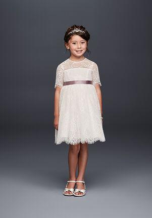 David's Bridal Flower Girl WG1373 White Flower Girl Dress