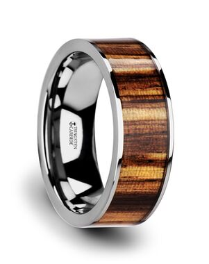 Mens Tungsten Wedding Bands W3763-TCZW Tungsten Wedding Ring
