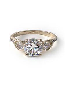 James Allen Vintage Asscher, Emerald, Round Cut Engagement Ring