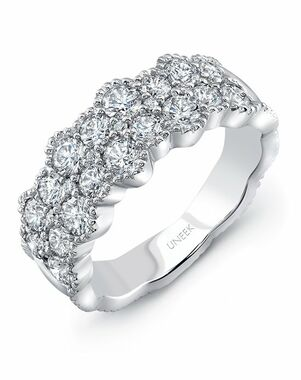 Uneek Fine Jewelry The Picot Diamond Band/LVBLG0489W White Gold Wedding Ring