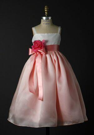 Elizabeth St. John Children Carmen White Flower Girl Dress