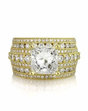 Mark Broumand Glamorous Princess Cut Engagement Ring