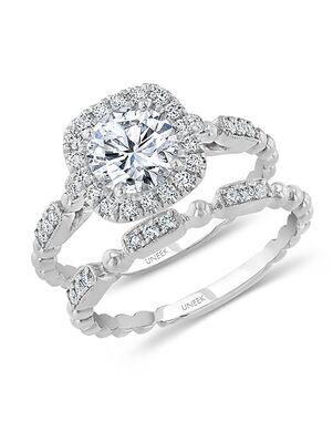 Uneek Fine Jewelry Unique Round Cut Engagement Ring