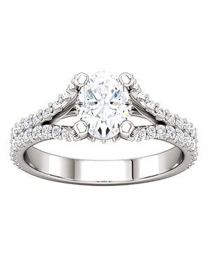 ever&ever Elegant Princess, Asscher, Cushion, Emerald, Round, Oval Cut Engagement Ring