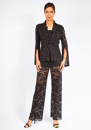 Grayse Wedding Party Stardust Rose Lace Jacket - W2430803 Black Mother Of The Bride Dress
