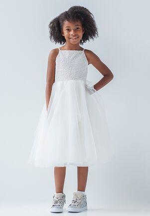 La Petite by Hayley Paige 5925-Flora Ivory Flower Girl Dress
