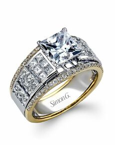Simon G. Jewelry Princess Cut Engagement Ring