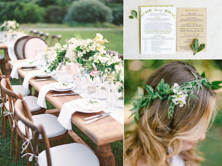 Ideas for an natural themed wedding
