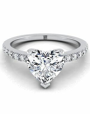 RockHer Unique Heart Cut Engagement Ring