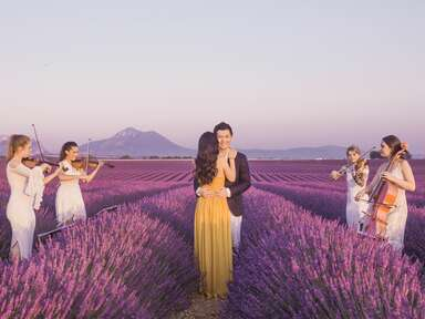 romantic engagement photo shoot in Provence, France with Flytographer