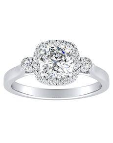 DiamondWish.com Elegant Princess, Asscher, Cushion, Emerald, Marquise, Pear, Round, Oval Cut Engagement Ring
