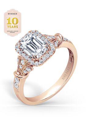 Kirk Kara Vintage Emerald Cut Engagement Ring