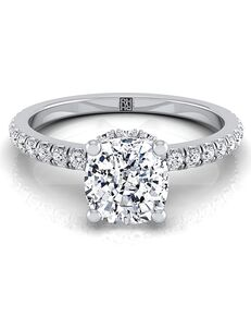 RockHer Classic Cushion Cut Engagement Ring