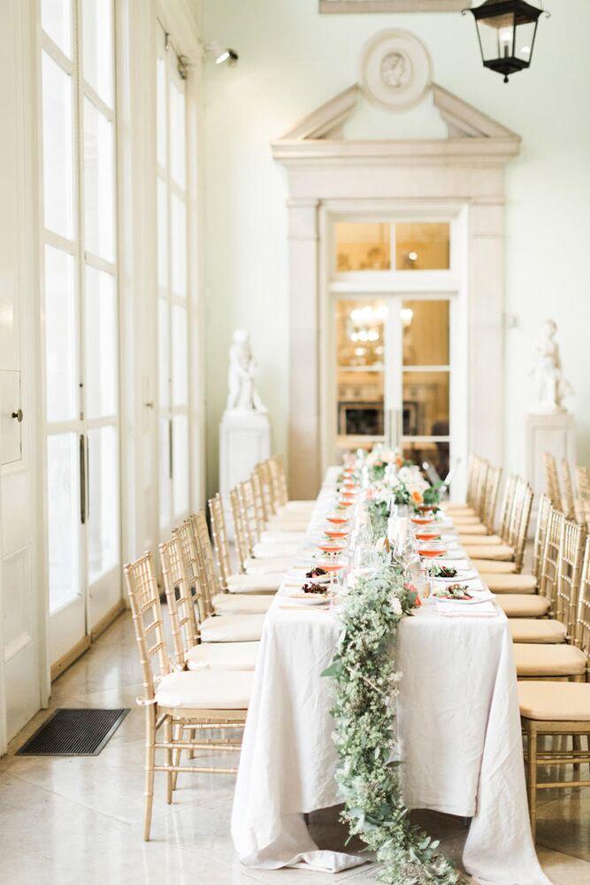romantic wedding at Cheekwood Botanical Garden