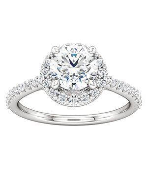 ever&ever Unique Round Cut Engagement Ring
