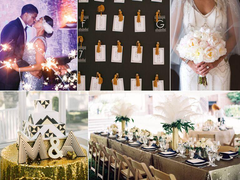 Ideas for an art deco-themed wedding