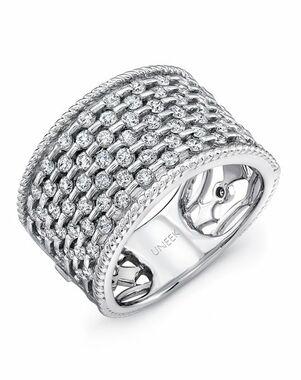Uneek Fine Jewelry The Point D'Esprit Diamond Band /LVBW324W White Gold Wedding Ring