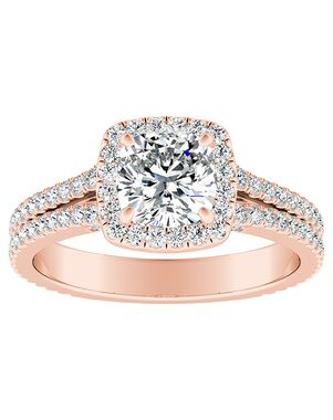 DiamondWish.com Vintage Cushion Cut Engagement Ring