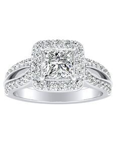 DiamondWish.com Glamorous Princess, Asscher, Cushion, Pear, Round, Oval Cut Engagement Ring