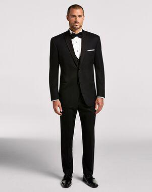 Men's Wearhouse BLACK By Vera Wang Black Notch Lapel Black Tuxedo