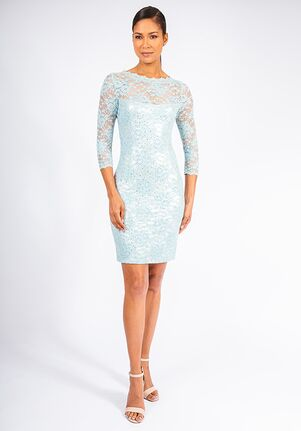 Grayse Wedding Party Seaglass Scallop Cocktail Dress - W142P045 Blue Mother Of The Bride Dress