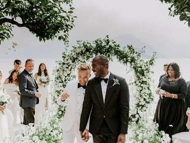 bride and groom industrial chic wedding
