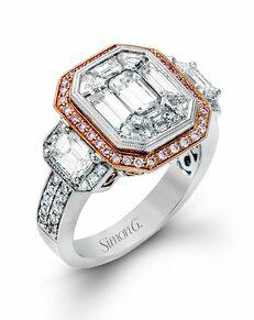 Simon G. Jewelry Emerald Cut Engagement Ring