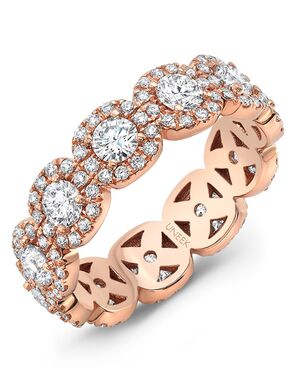 Uneek Fine Jewelry LVBE165CURDR Rose Gold Wedding Ring