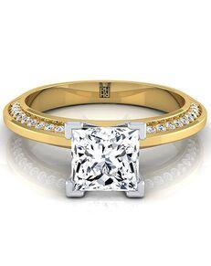 RockHer Unique Princess Cut Engagement Ring