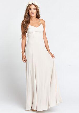 Show Me Your Mumu Godshaw Goddess Gown - Show Me the Ring Crisp Scoop Bridesmaid Dress