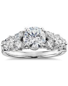 Monique Lhuillier Fine Jewelry Glamorous Round Cut Engagement Ring